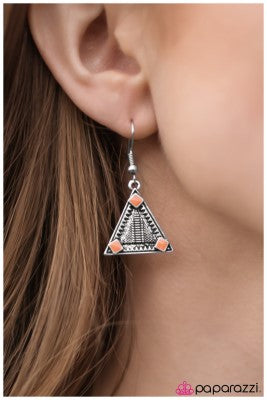 Nights Over Egypt - Orange - Paparazzi earrings