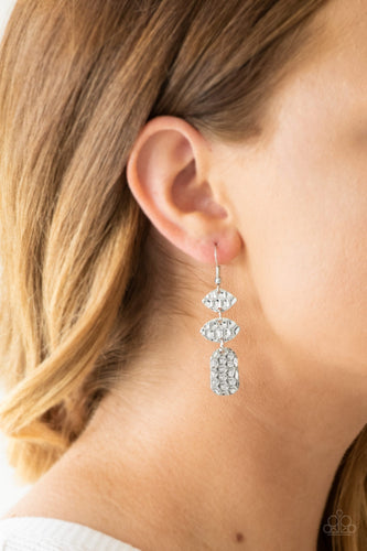 Nine to HIVE - silver - Paparazzi earrings