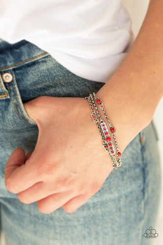 No Means NOMAD-red-Paparazzi bracelet