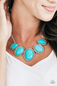 Nobel Nomad - blue - Paparazzi necklace