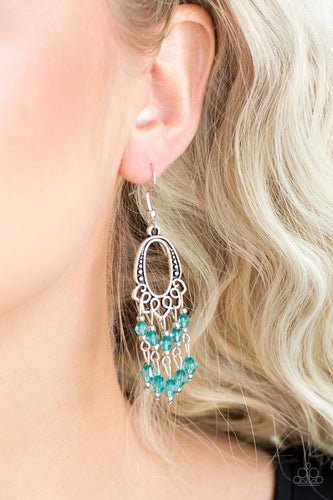 Not the Only Fist in the Sea - green - Paparazzi earrings