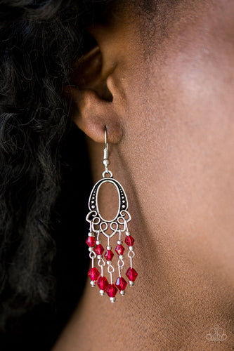Not the Only Fish in the Sea - red - Paparazzi earrings