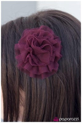 Nothing But Net - purple - Paparazzi hair clip