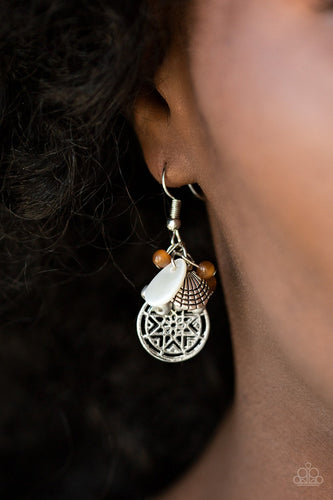Ocean Oracle-brown-Paparazzi earrings