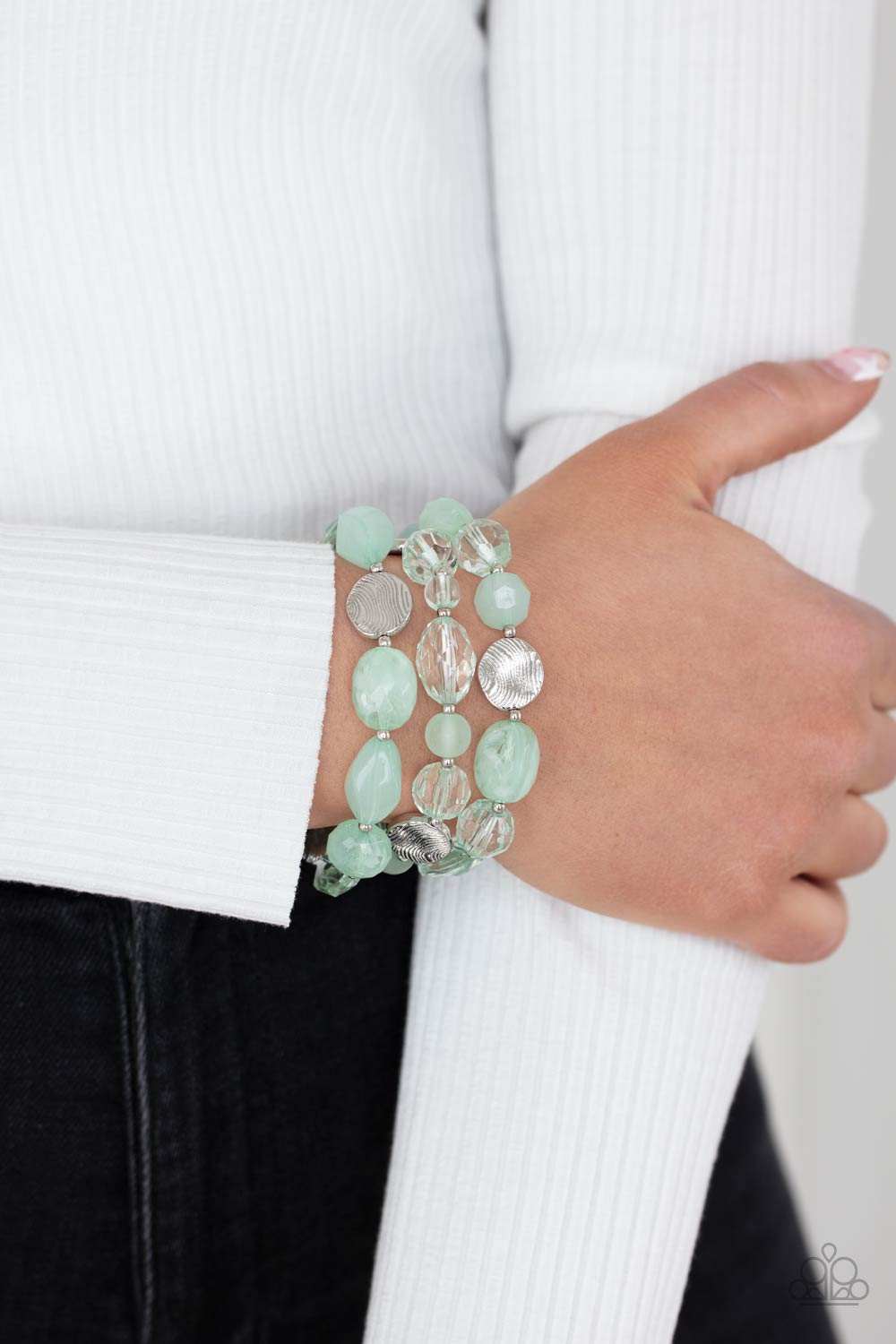 Oceanside Bliss - green - Paparazzi bracelet