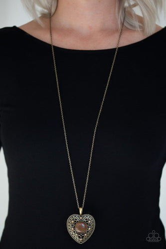One Heart-brass-Paparazzi necklace