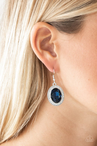 Only FAME in Town - blue - Paparazzi earrings