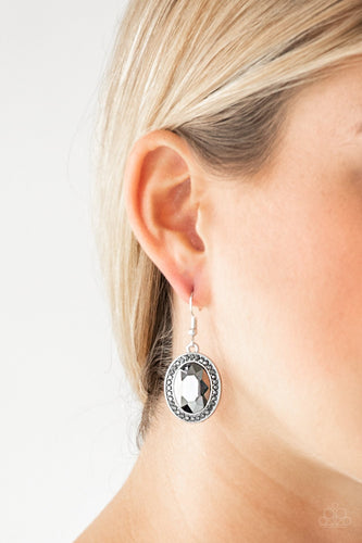 Only FAME in Town - silver - Paparazzi earrings