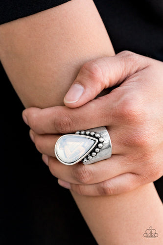 Opal Mist-white-Paparazzi ring