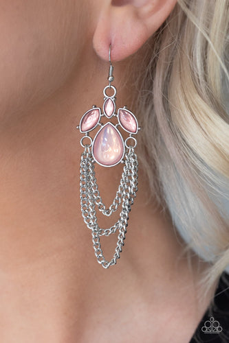 Opalescence Essence-pink-Paparazzi earrings