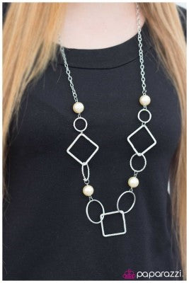 Opulent Outlines - Yellow - Paparazzi necklace