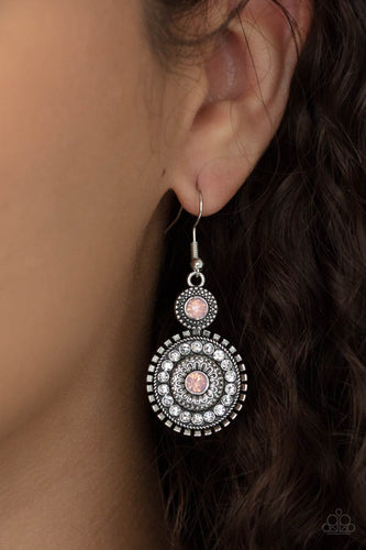 Opulent Outreach - pink - Paparazzi earrings