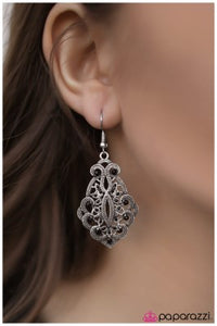 Out With a Bang - Black - Paparazzi earrings