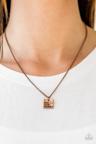 Own Your Own Journey - copper - Paparazzi necklace