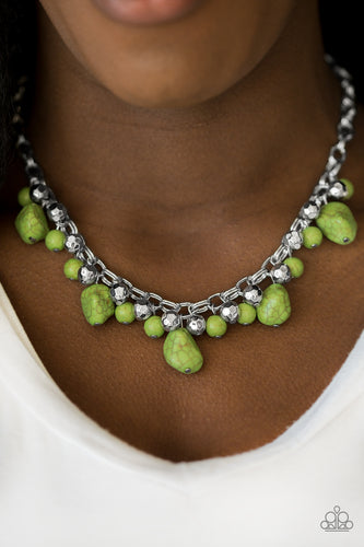 Paleo Princess - green - Paparazzi necklace