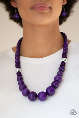 Panama Panorama-purple-Paparazzi necklace