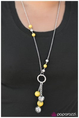 Part Of The Movement - Yellow -Paparazzi necklace