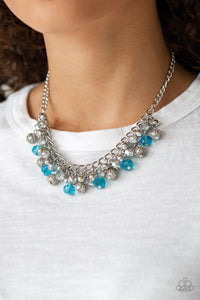 Party Spree-blue-Paparazzi necklace