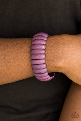 Peacefully Primal - purple - Paparazzi bracelet