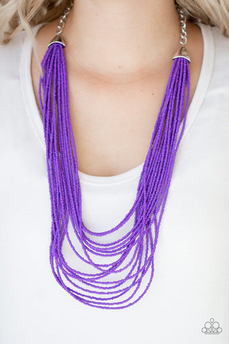 Peacefully Pacific - purple - Paparazzi necklace