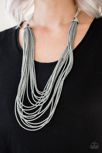 Peacefully Pacific-silver-Paparazzi necklace
