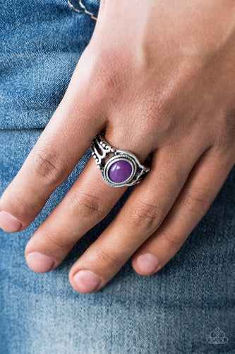 Peacefully Peaceful - purple - Paparazzi ring