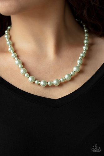 Pearl Heirloom-green-Paparazzi necklace