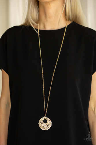 Pearl Panache-gold-Paparazzi necklace