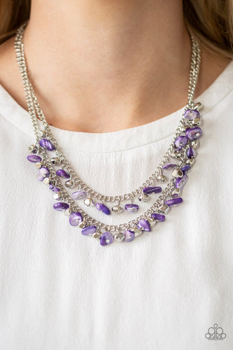 Pebble Pioneer-purple-Paparazzi necklace