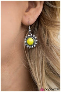Pep Rally - Yellow - Paparazzi earrings