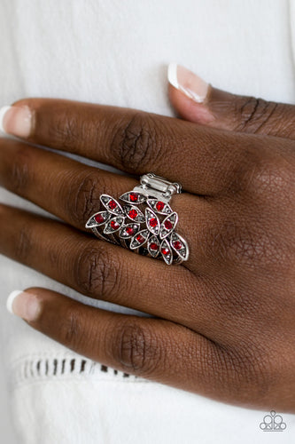 Perennial Paradise - red - Paparazzi ring