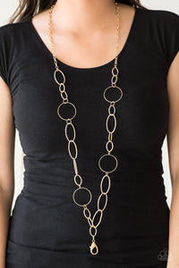 Perfect Mismatch - gold - Paparazzi LANYARD necklace