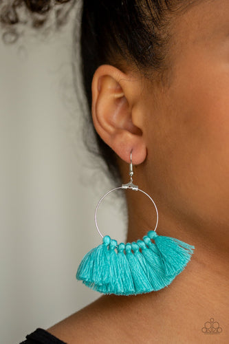 Peruvian Princess-blue-Paparazzi earrings