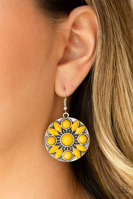 Petal Paradise - yellow - Paparazzi earrings