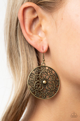 Petal Prana-brass-Paparazzi earrings