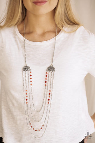 Pharaoh Fitness-red-Paparazzi necklace