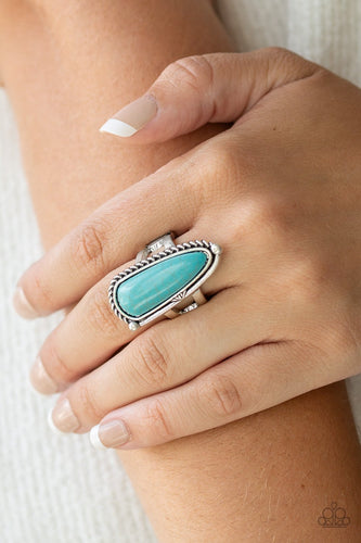 Pioneer Plains-blue-Paparazzi ring