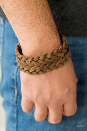Pirate Port-brown-Paparazzi bracelet