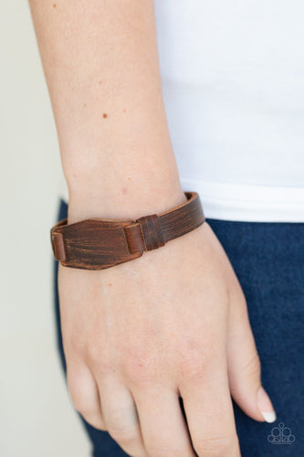 Plainly Pioneer-brown-Paparazzi bracelet