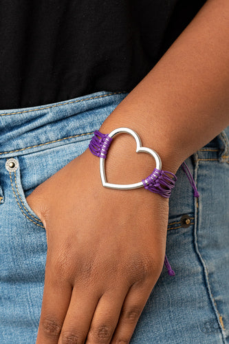 Playing With My HEARTSTRINGS - purple - Paparazzi bracelet