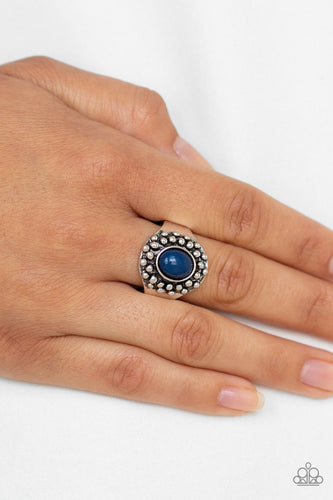 Please and Thank You-blue-Paparazzi ring