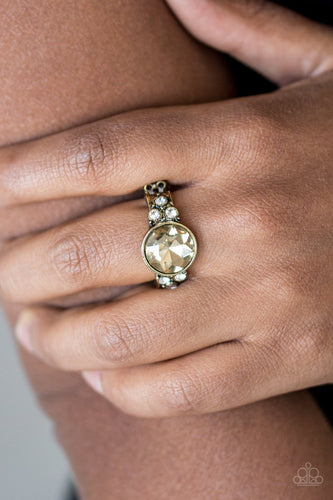 Poshly Pampered - brass - Paparazzi ring