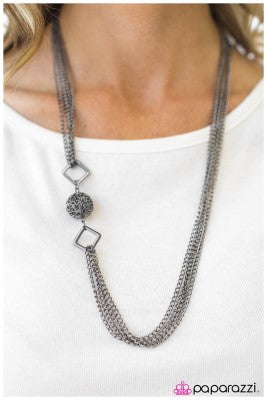 Positive Thinking - Black - Paparazzi Necklace