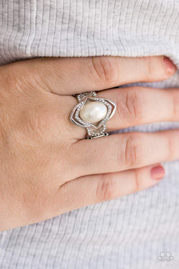 Positively Posh - white - Paparazzi ring