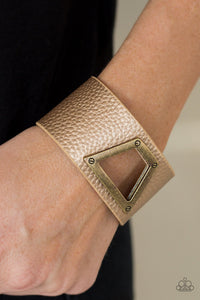 Power Play - brass - Paparazzi bracelet