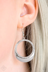 Pretty Pampered - white - Paparazzi earrings