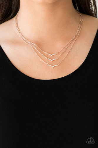Pretty Petite - rose gold - Paparazzi necklace