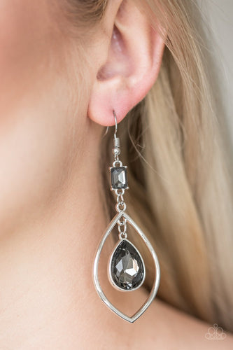Priceless-silver-Paparazzi earrings