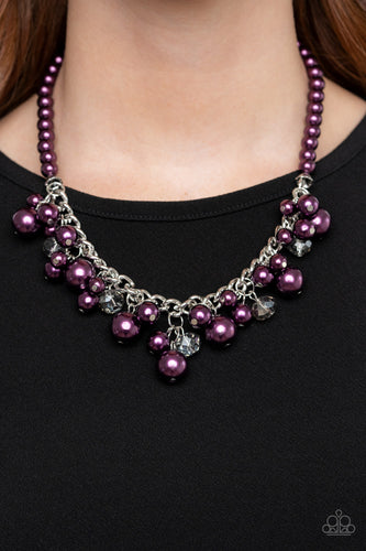 Prim and Polished - purple - Paparazzi necklace