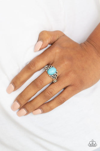 Princess Problems-blue-Paparazzi ring